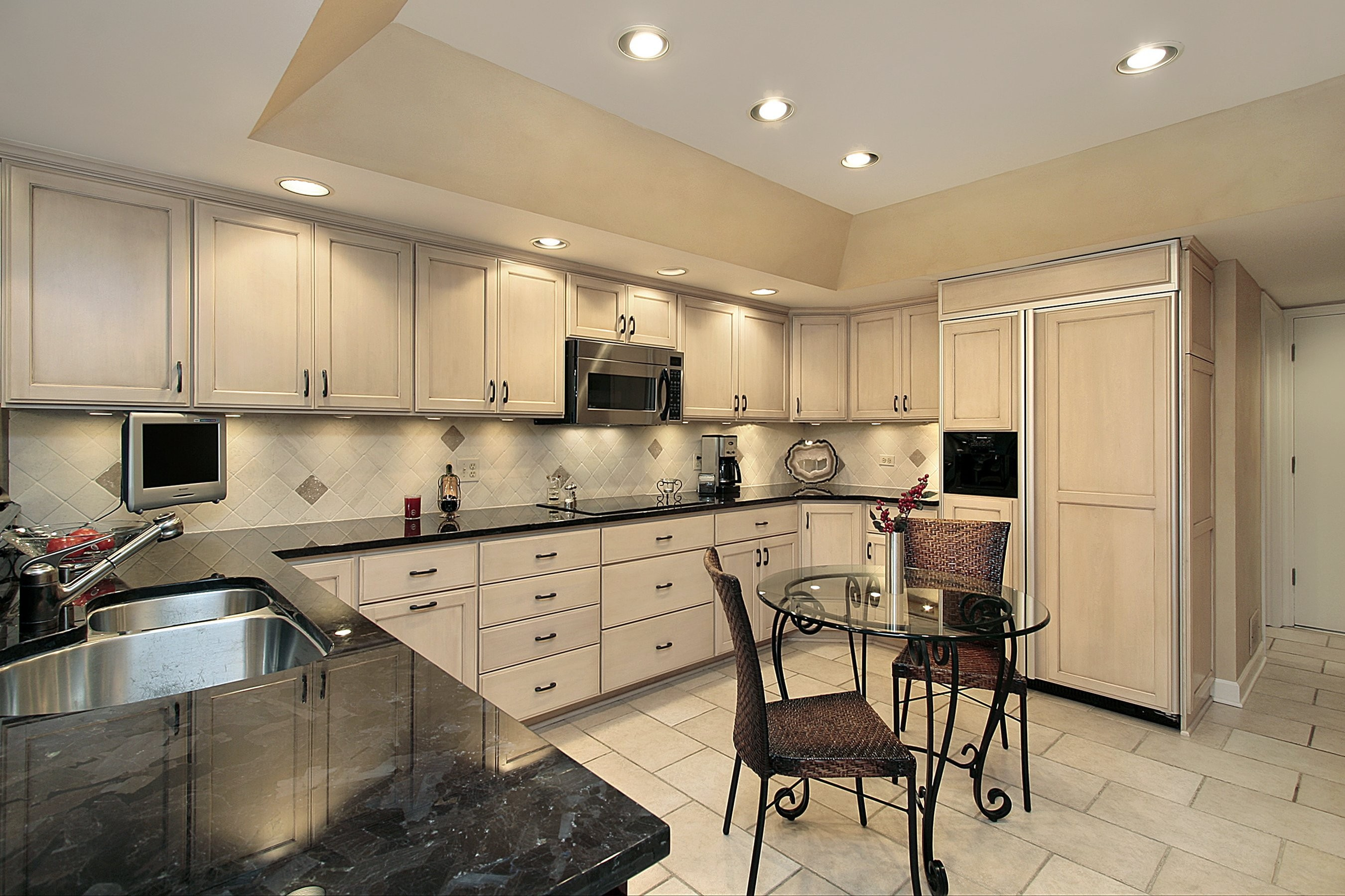 limitless remodeled kitchen black counter tops