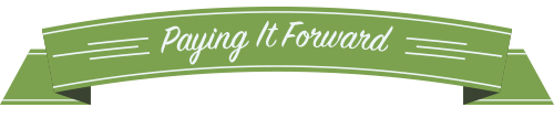 paying it forward banner