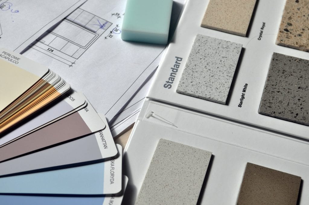 home interior design tile paint and finish selections